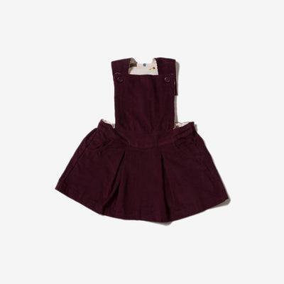 Plum Pinafore Dress