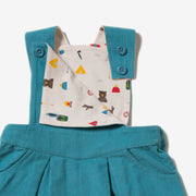 Mountain Blue Pinafore Dress