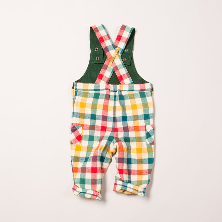 Autumn Rainbow Check Classic Dungarees
