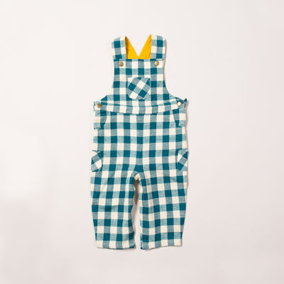Winter Blue Check Classic Dungarees