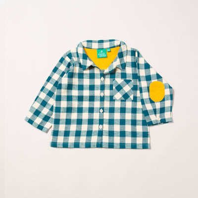 Winter Blue Check Out & About Shirt