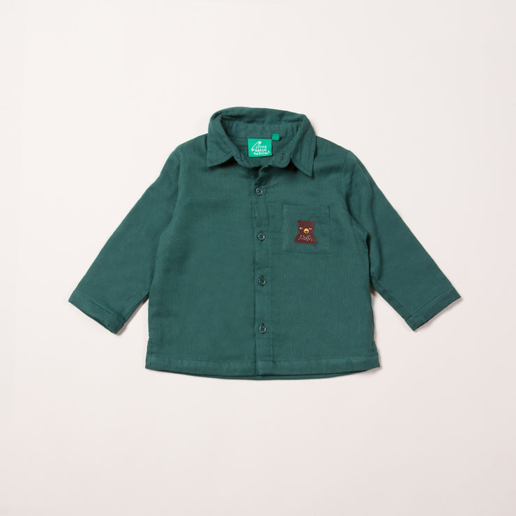 Nordic Bear Embroidered Shirt