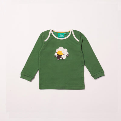 Golden Sheep Appliqué T-Shirt
