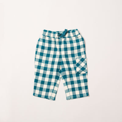 Winter Blue Check Bottoms