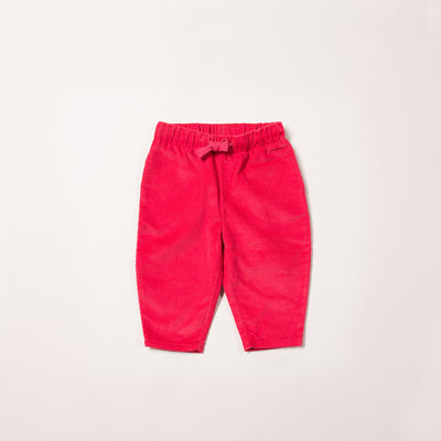 Raspberry Cord Comfy Trousers
