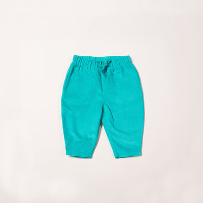 Turquoise Cord Comfy Trousers