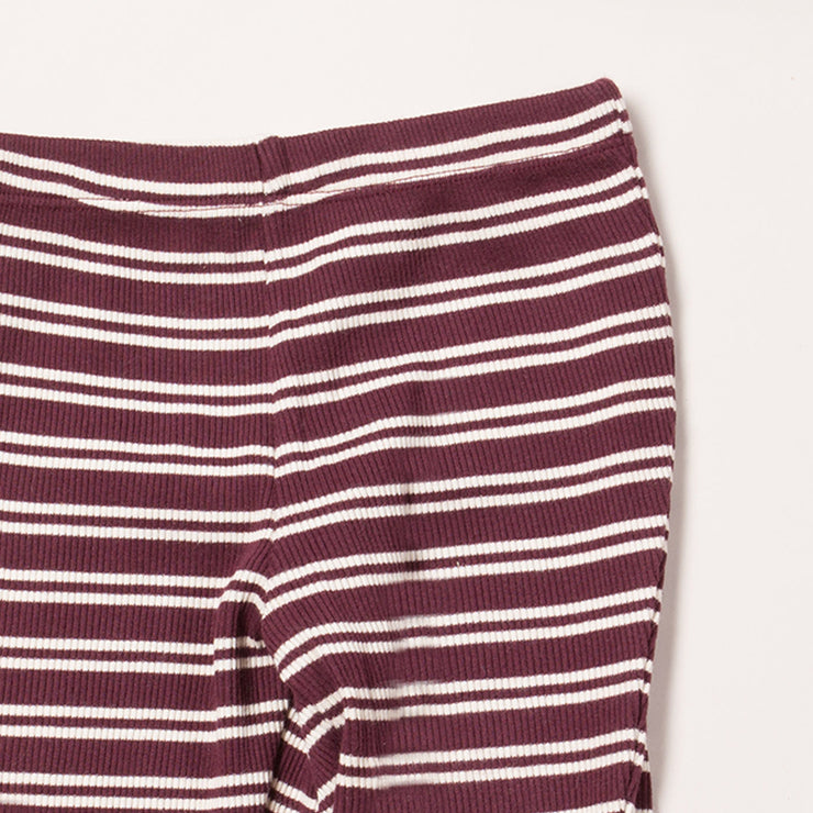 Plum Stripes Forever Rib Leggings