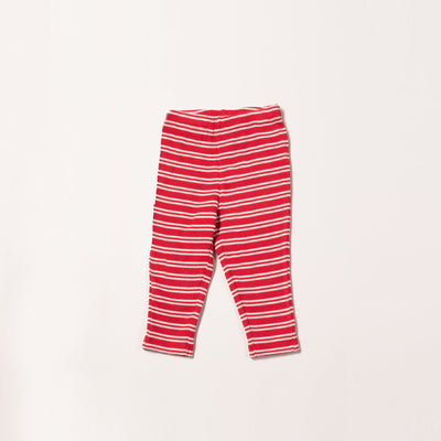 Red Stripes Forever Rib Leggings