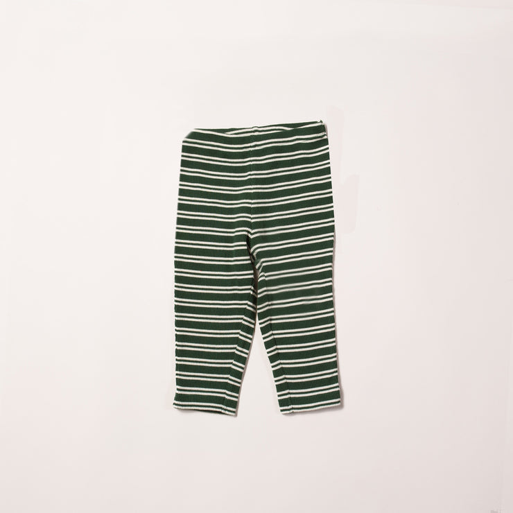 Vintage Green Stripes Forever Rib Leggings