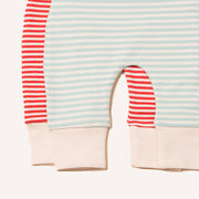 Red & Powder Blue Wiggle Bottom Set