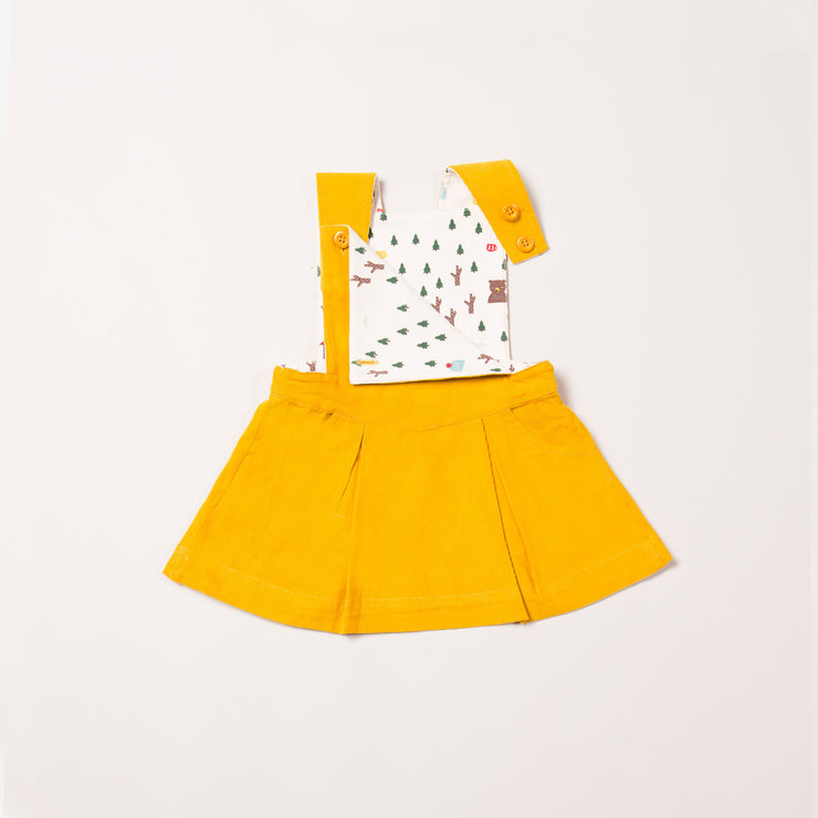 Gold Woodland Adventure Pinafore Dress