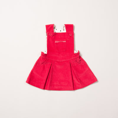 Raspberry Woodland Adventure Pinafore Dress