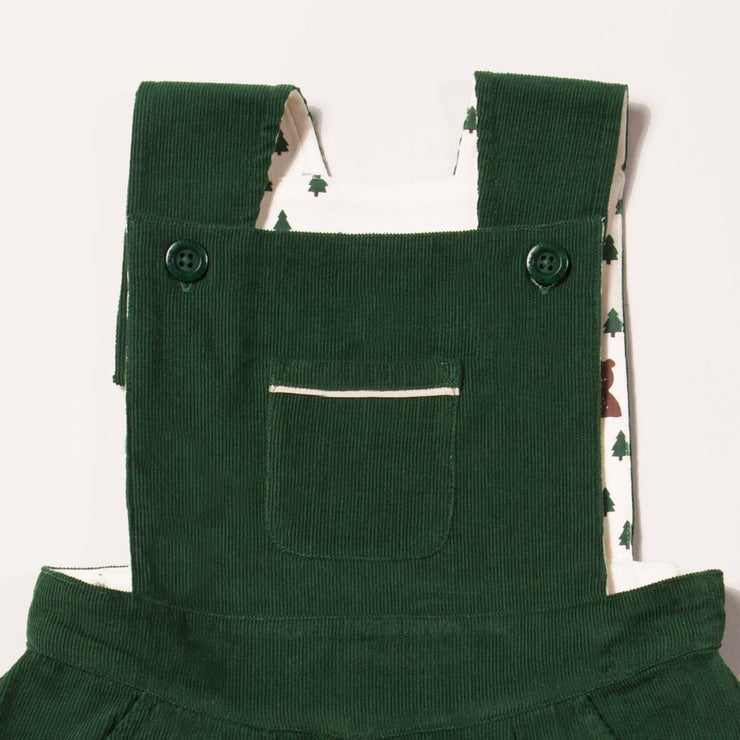 Vintage Green Woodland Adventure Pinafore Dress