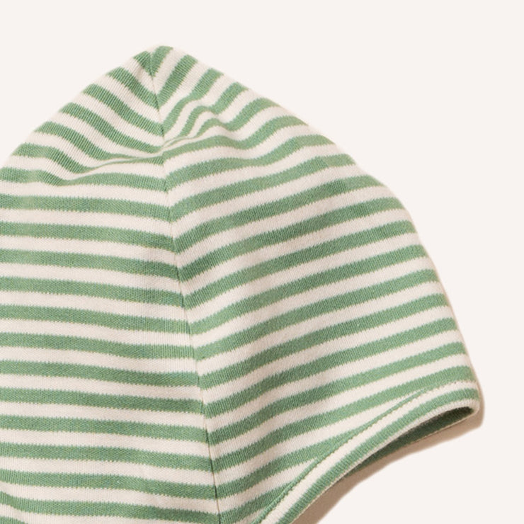 Alpine Green Stripe Baby Cap