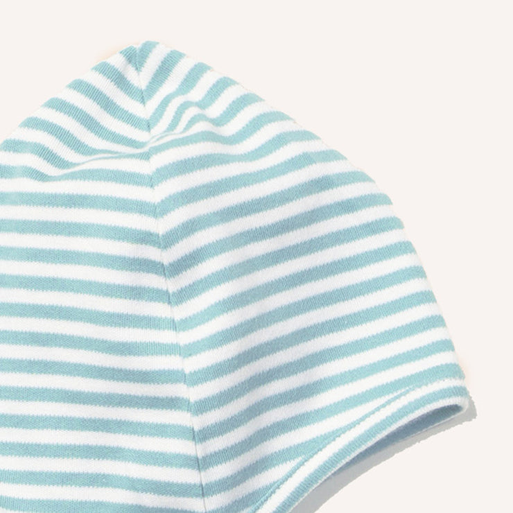 Powder Blue Stripe Baby Cap