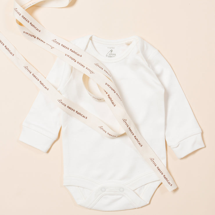 Natural Long Sleeve Baby Body - Pack of 3
