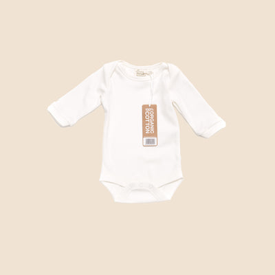 Natural Long Sleeve Baby Body - Single