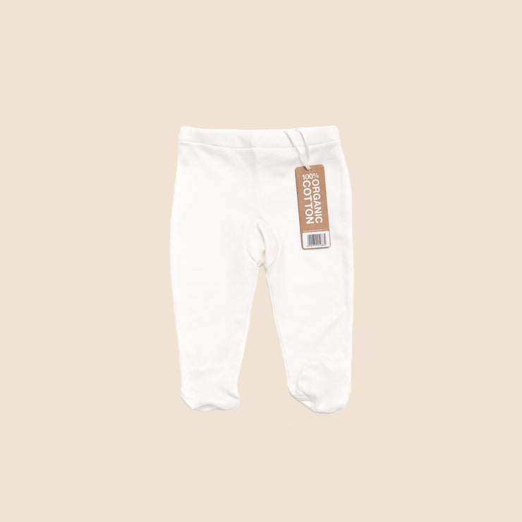 Natural Footed Baby Trousers - Single