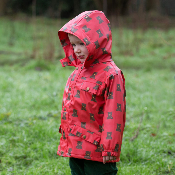 Mountain Bears Waterproof Lined Recycled Raincoat
