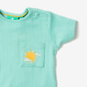 Pointelle Pale Turquoise Tee