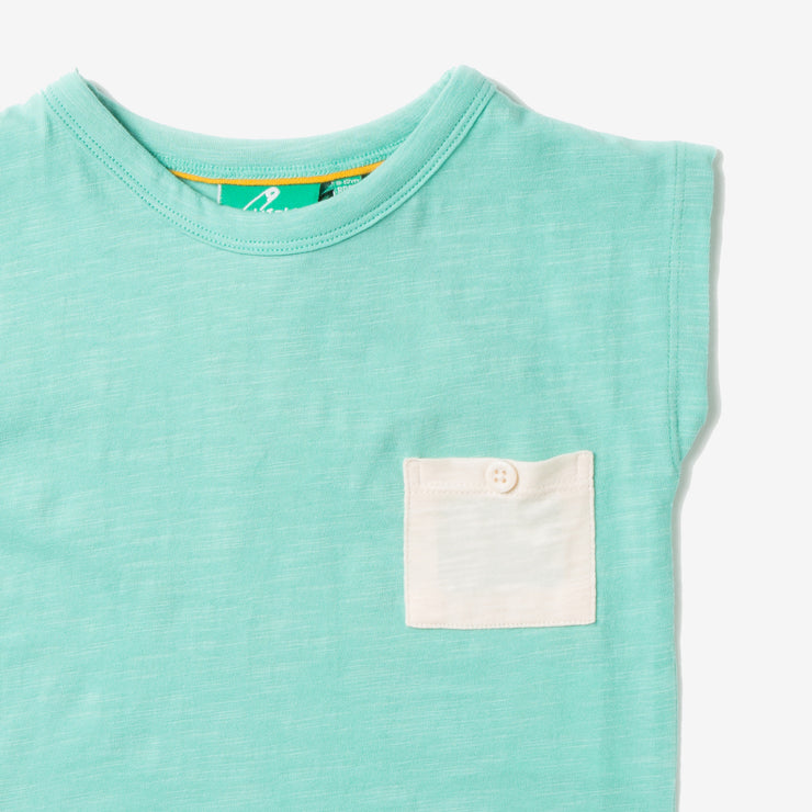 Pale Turquoise Breezy Tee