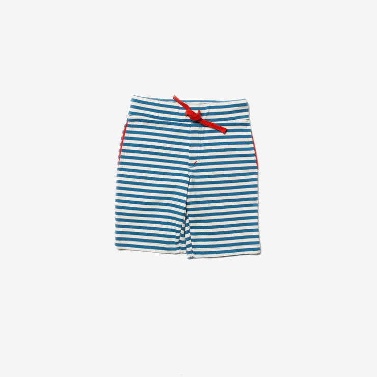 Ocean Blue Stripe Beach Shorts