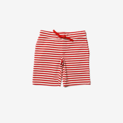 Red Stripe Beach Shorts