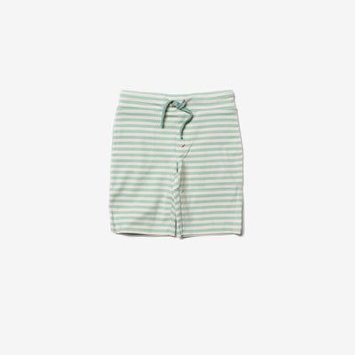 Duck Egg Blue Stripe Beach Shorts