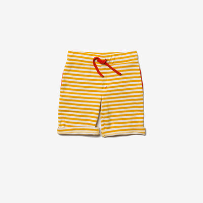 Gold Stripe Beach Shorts