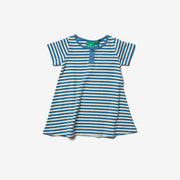 Ocean Blue Stripe Playaway Dress