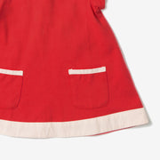 Red Short Sleeve Tunic Dress