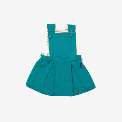 Emerald Pinafore Dress