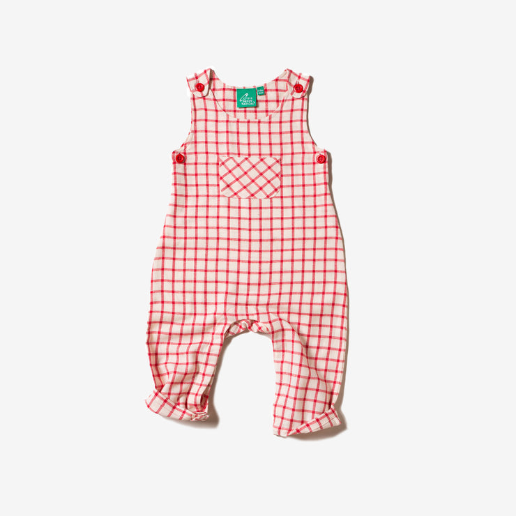 Red Check Explorer Dungarees