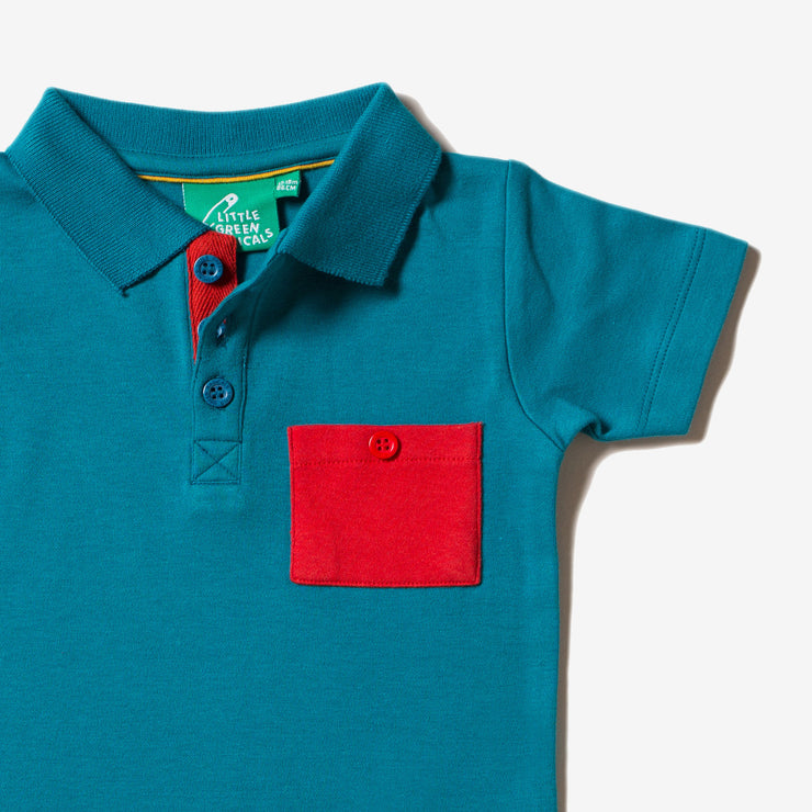 Teal Short Sleeve Polo