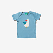 Sunshine Seagull Applique T-Shirt