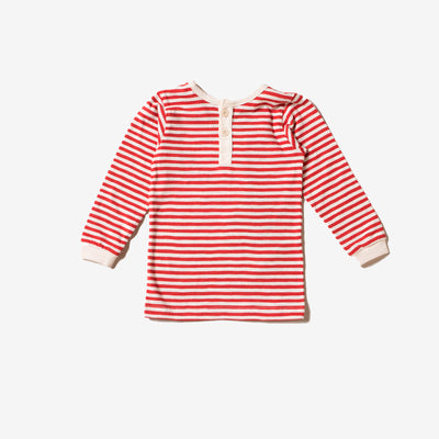 Red Stripe Long Sleeve Everyday T-Shirt