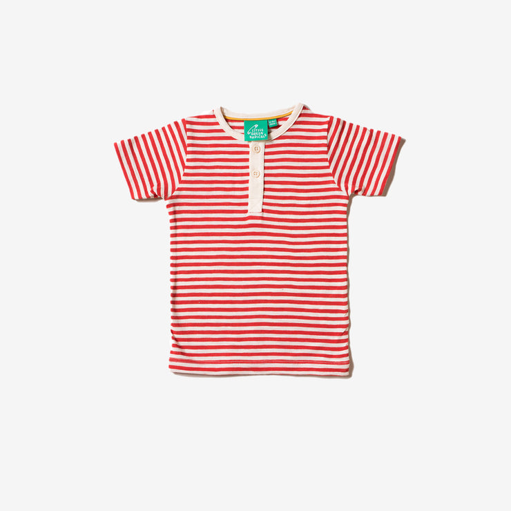 Red Stripe Short Sleeve Everyday T-Shirt