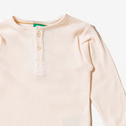 Cream Rib Long Sleeve Everyday T-Shirt