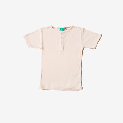 Cream Rib Short Sleeve Everyday T-Shirt