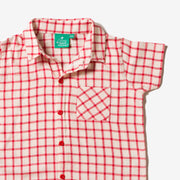 Red Check Button Down Shirt