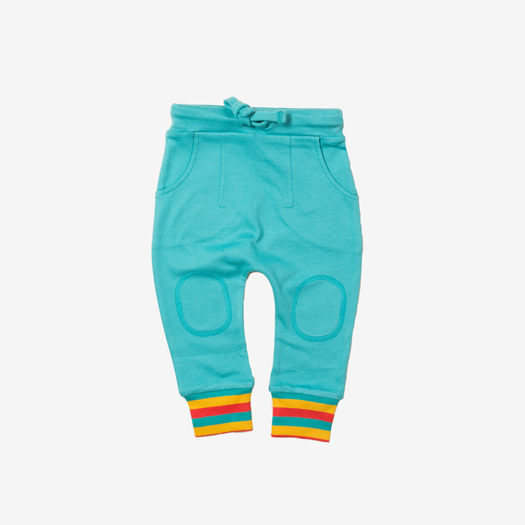 Peacock Blue Rainbow Joggers