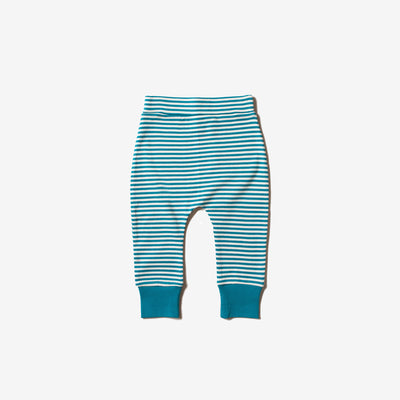 Teal Striped Wriggle Bottoms