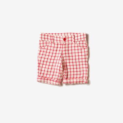 Red Check Sunshine Shorts