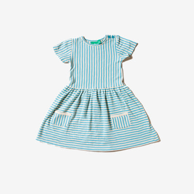 Corn Silk Blue Stripes Forever Dress