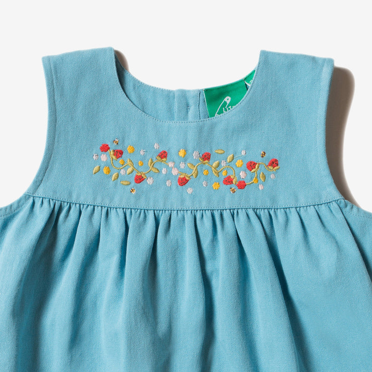 Wild Strawberries Embroidered Dress