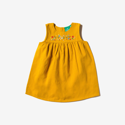 Sunflowers & Bees Embroidered Dress