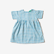 Corn Silk Blue Check Summer Days Dress