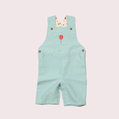 Balloon Striped Shortie Dungarees