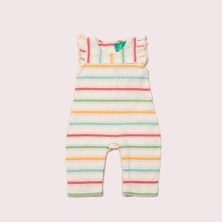 Rainbow Striped Organic Summer Romper