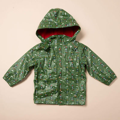 Rocket To The Stars Waterproof Recycled Raincoat